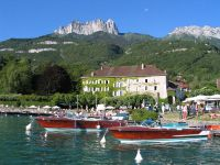 Talloires lake front 2 Reasons to visit Lake Annecy in August